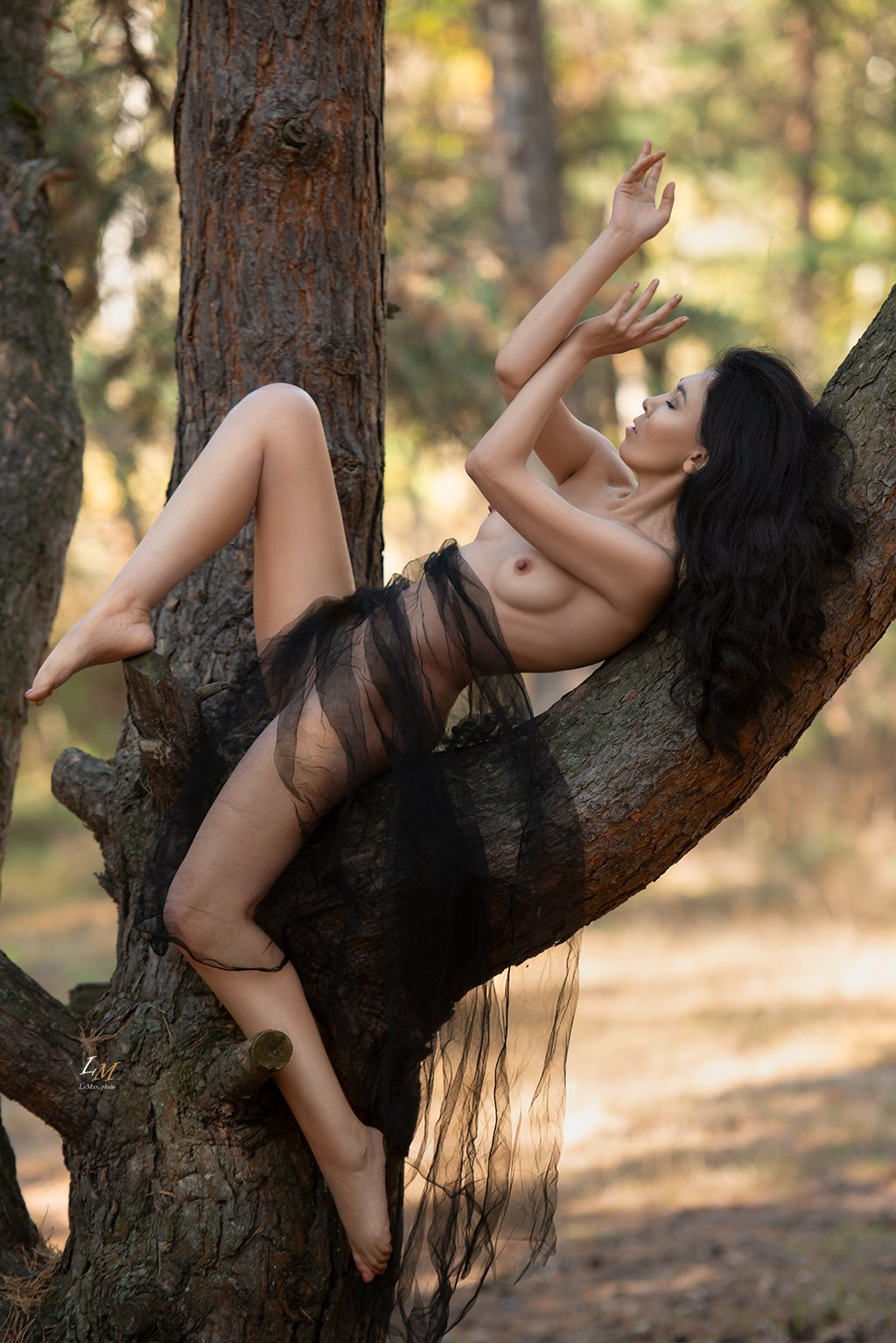 ню, осень, парк, девушка, природа, москва, фотограф, ню фотограф, ню фотосессия, Маркачев Леонид