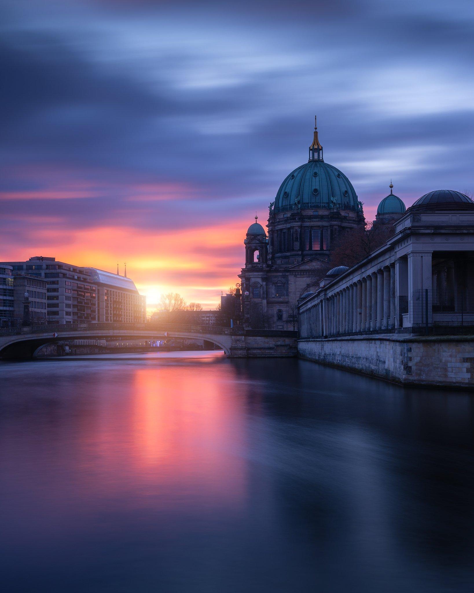 Berlin, Sunrise, Colorful, Moody, Architecture, City, Long Exposure, Remo Daut