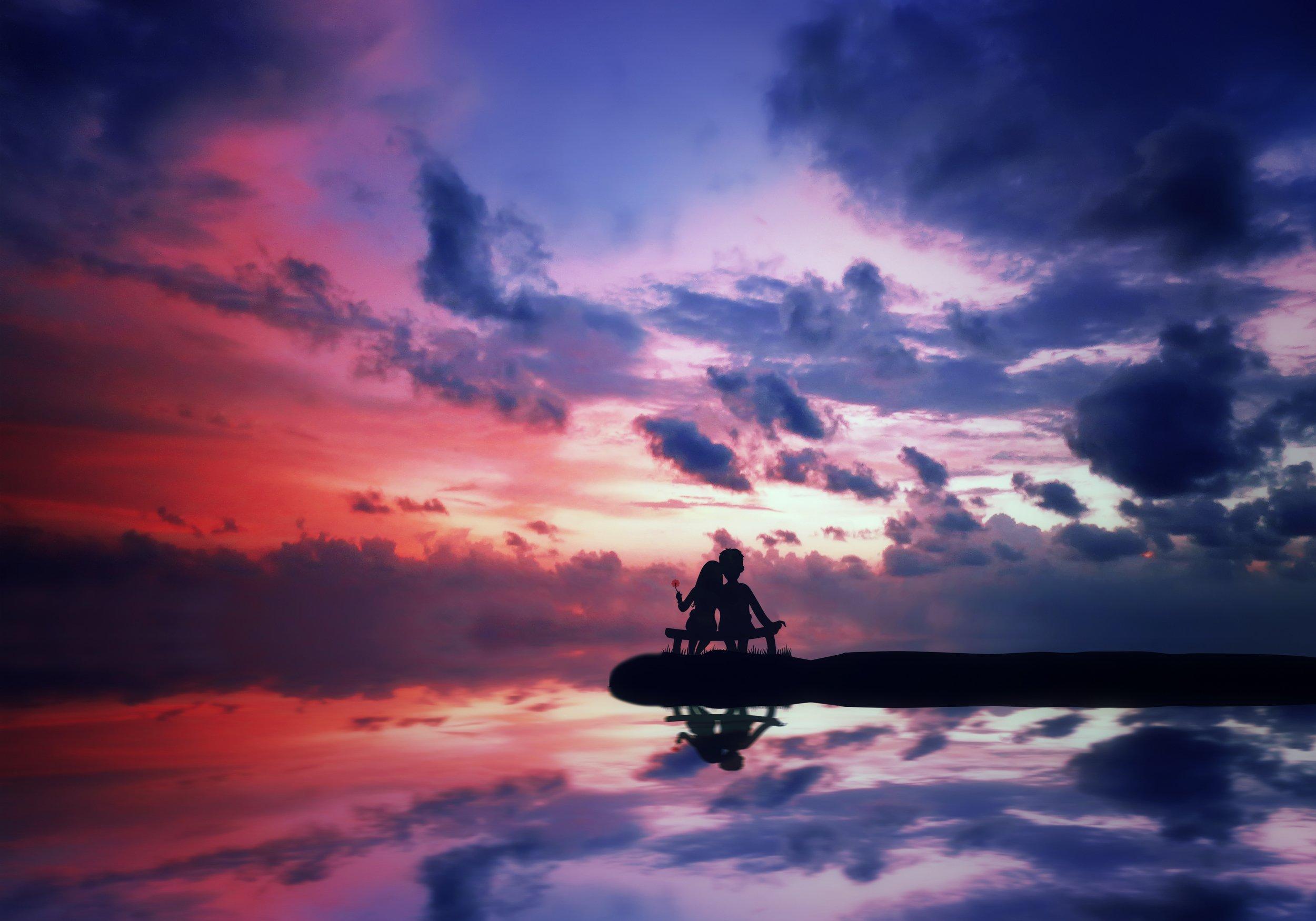 любовь, облака, море, Sergii Vidov