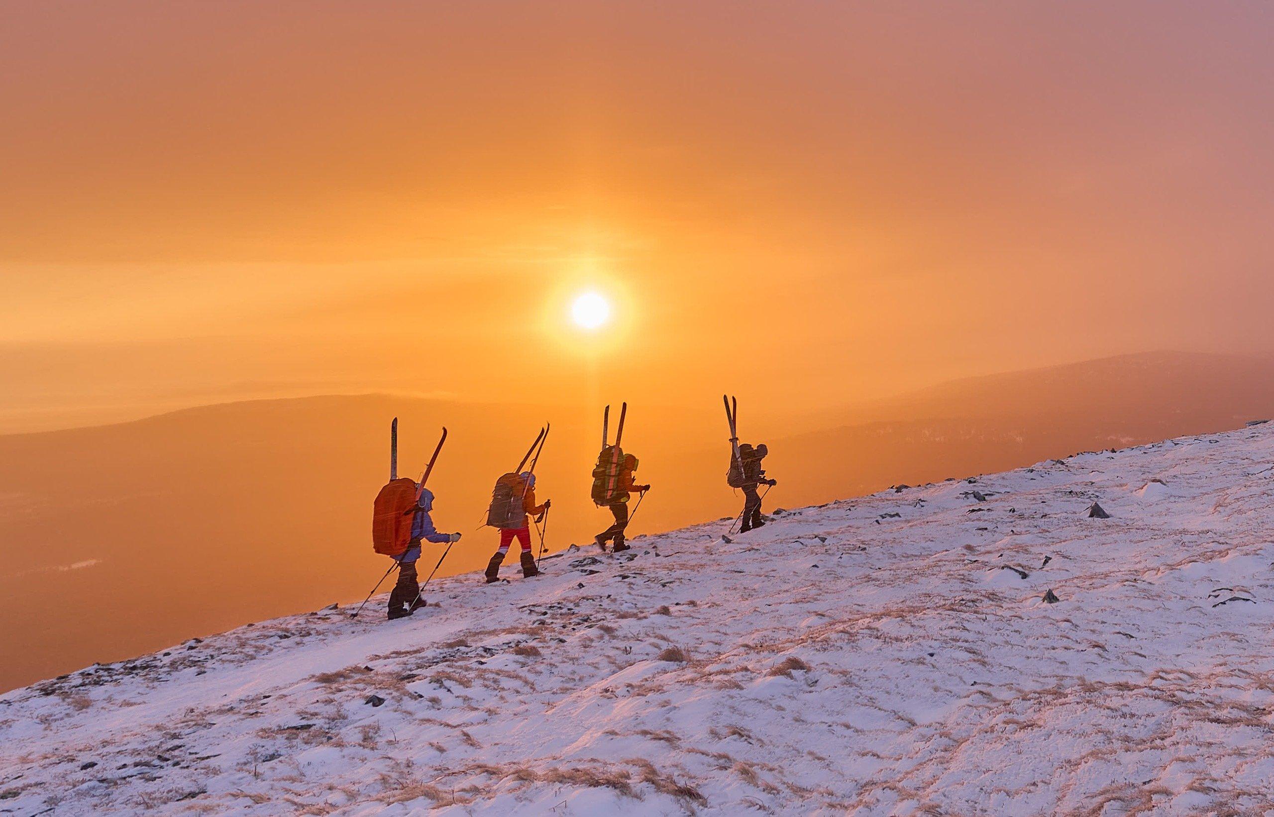 солнце, рассвет, туристы, Жаров Андрей