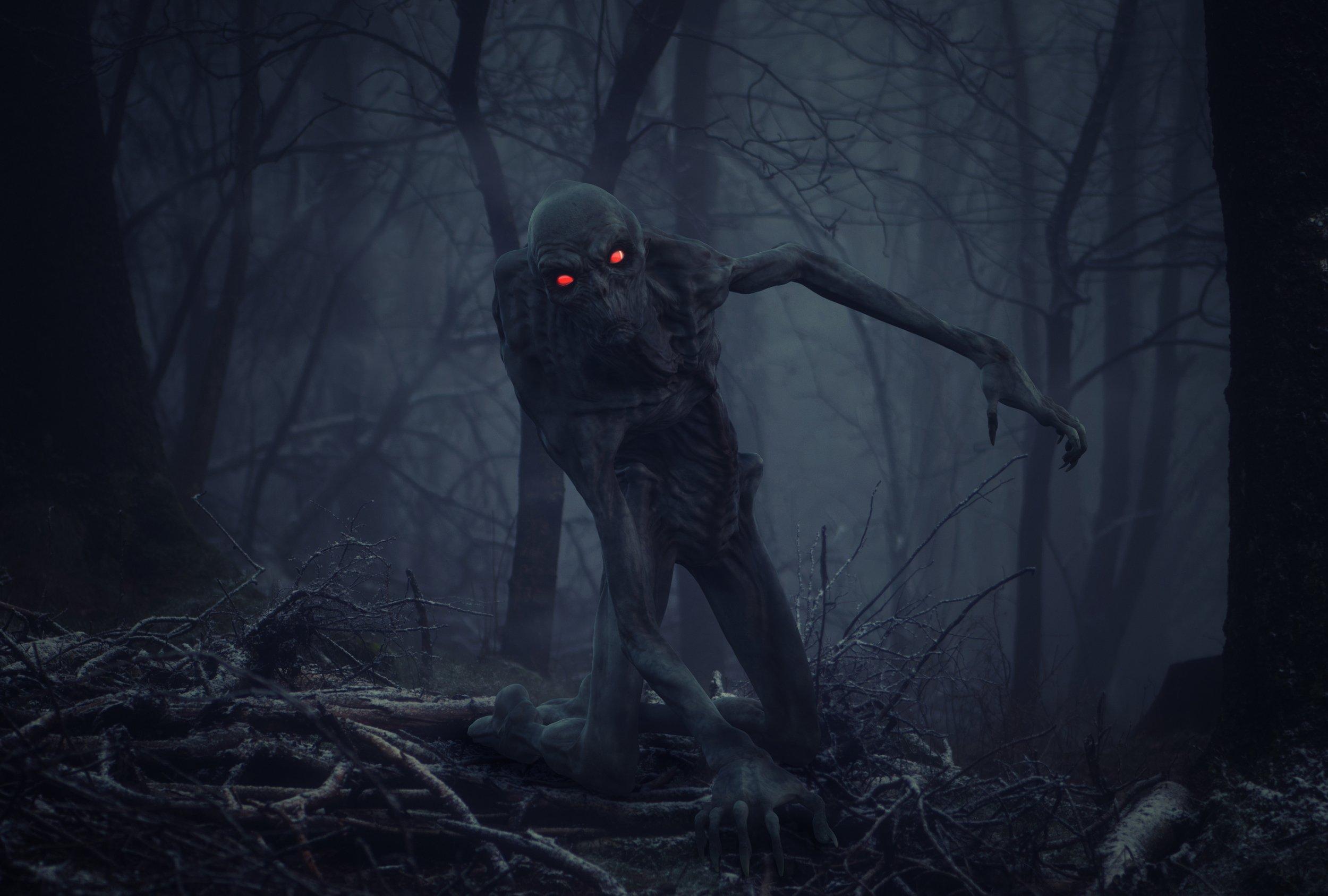 лес, монстр, Sergii Vidov