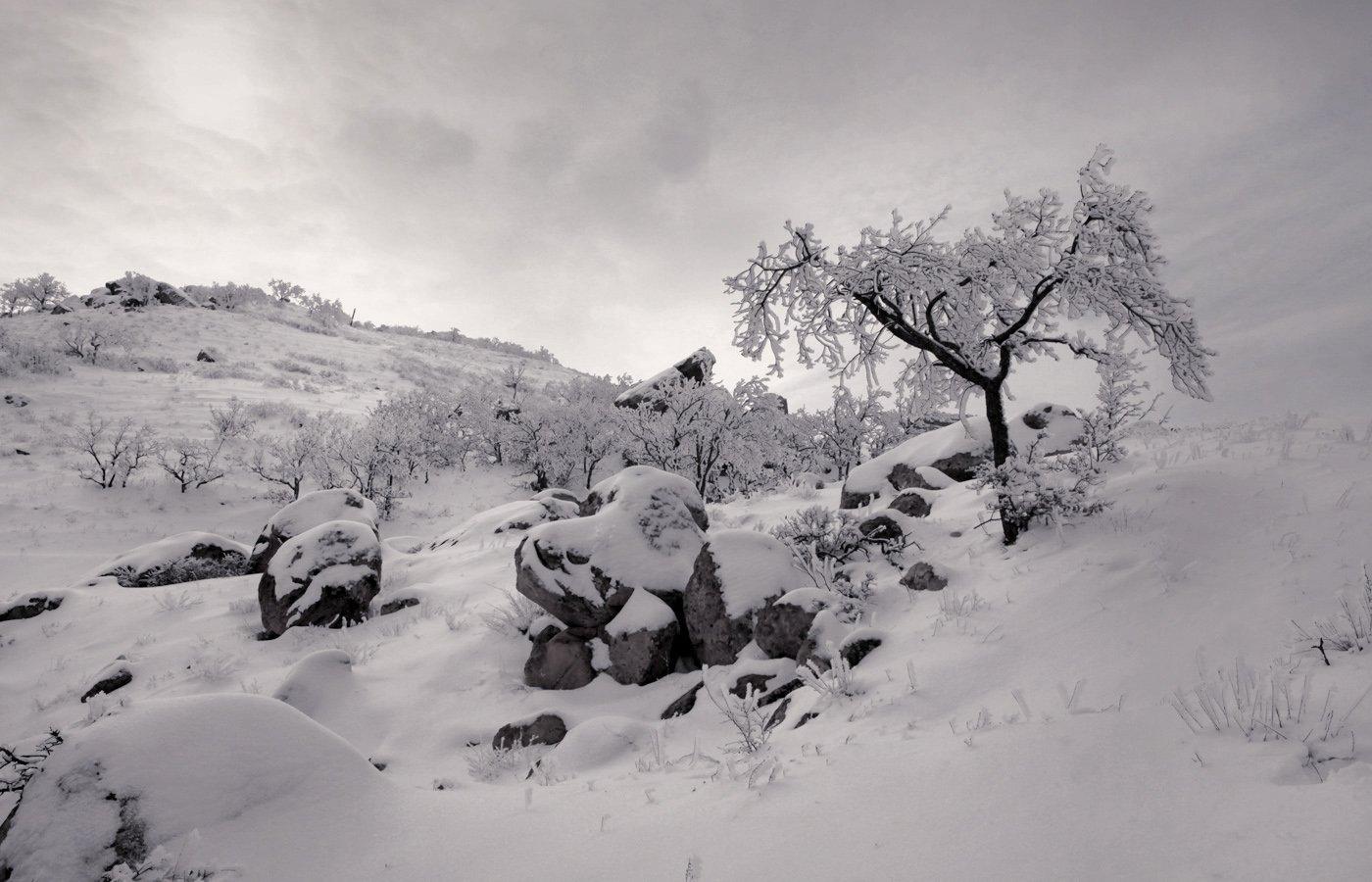 зима,горы,вечер,снег,пейзаж,природа,дагестан.., Magov Marat