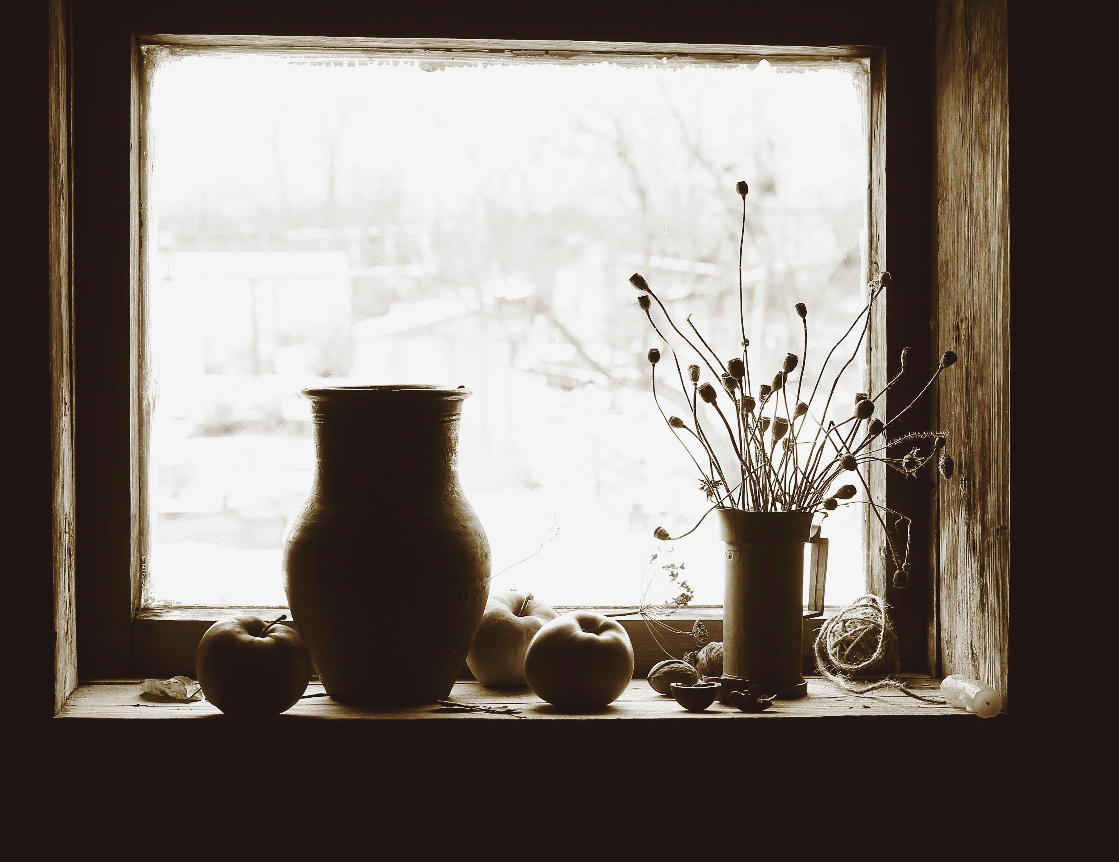 натюрморт, фотонатюрморт, окно, дом, зима, черно - белое, наталья казанцева, Казанцева Наталья