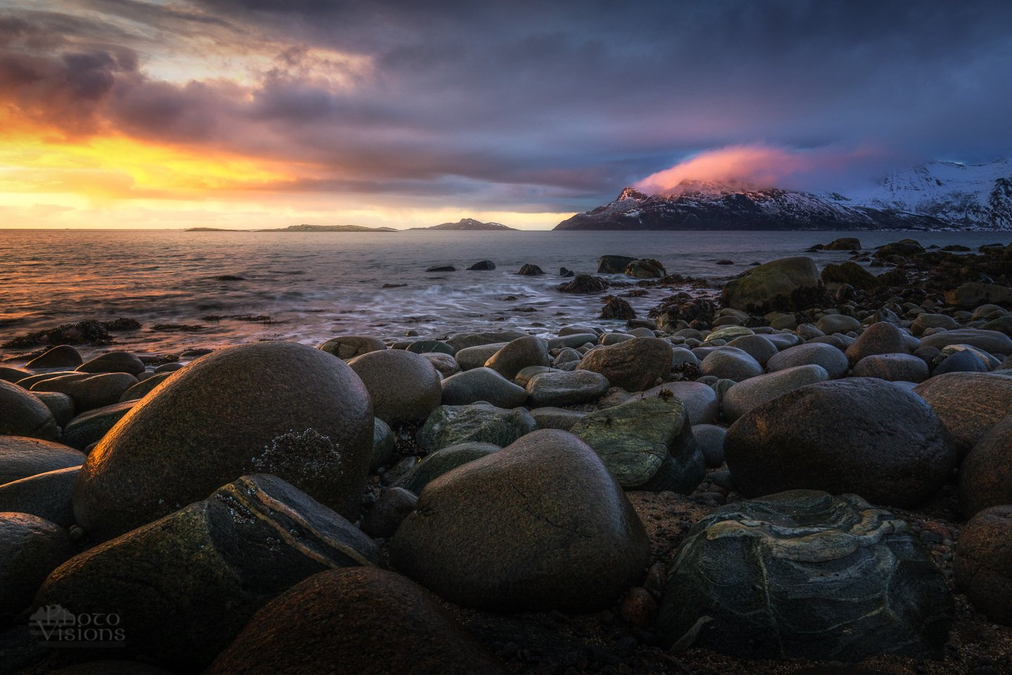 sunset,sky,clouds,colours,northern sea, norway,tromvik,north,winter,, Szatewicz Adrian