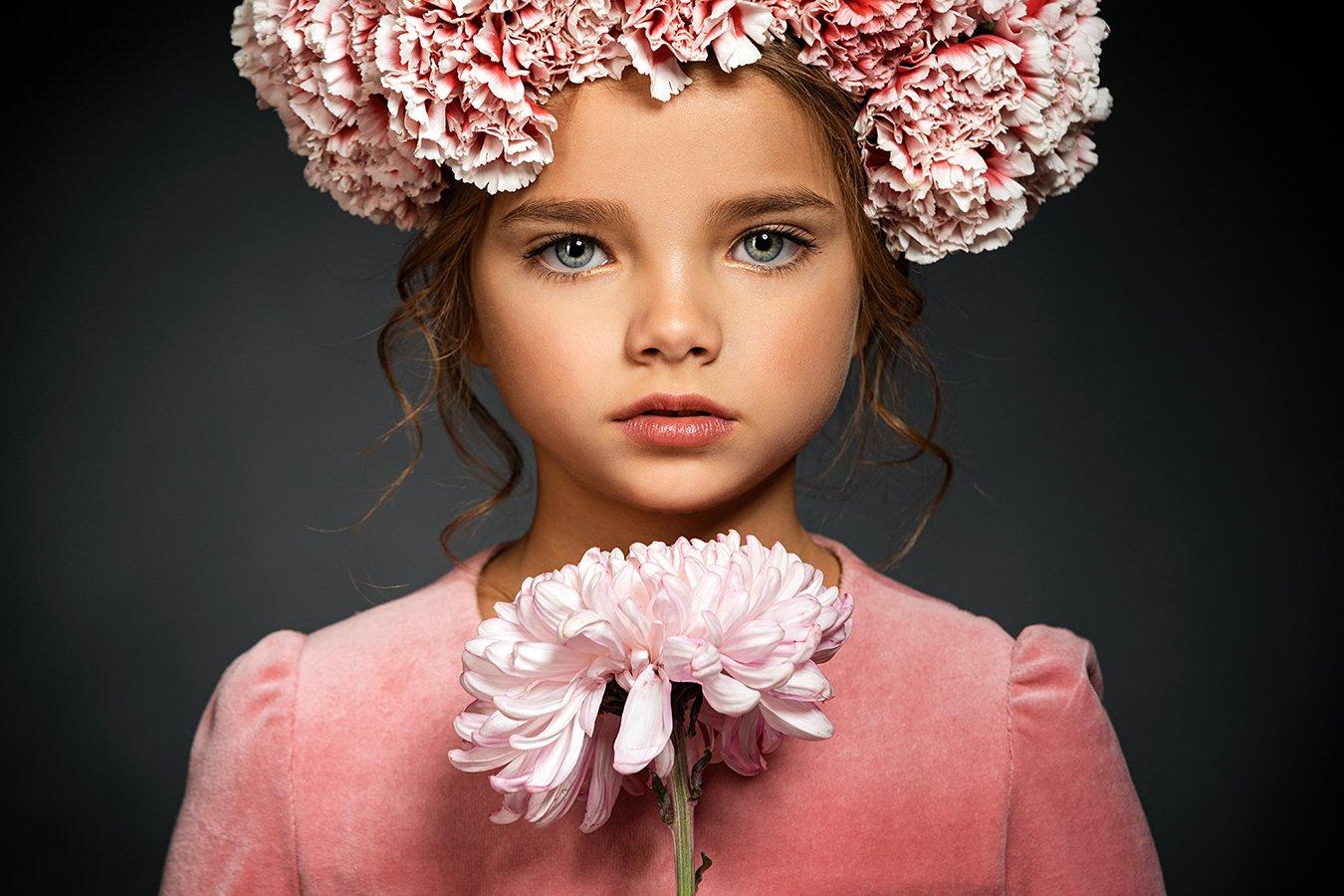 девушка, портрет, girl, portrait, ребенок, цветок, Тимофей Смирнов