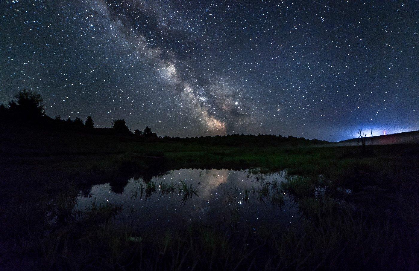 astrophoto, milky way, night, ночь, млечный путь, пейзаж, reflection, отражение, Юденков Алексей