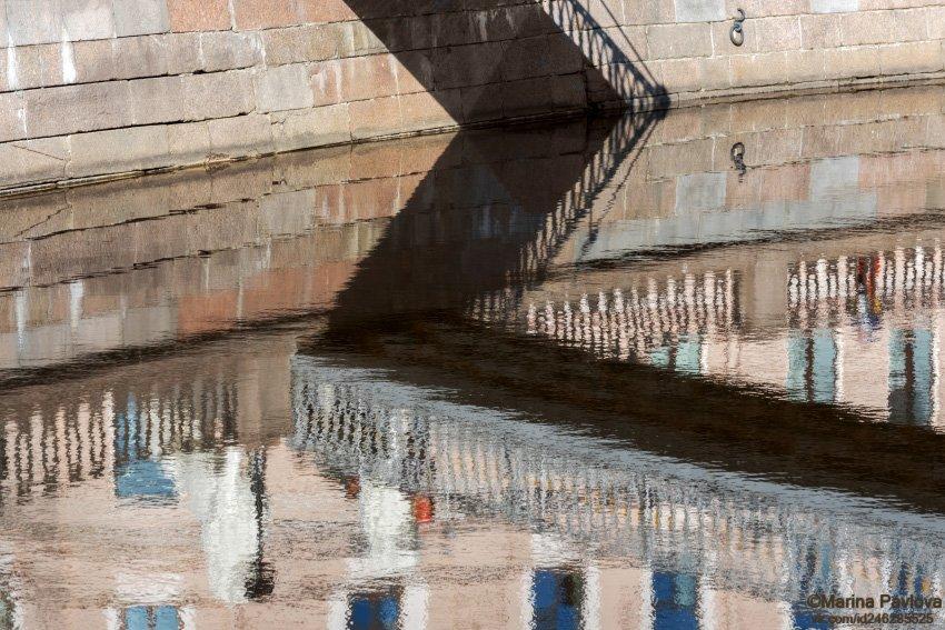 город, петербург, набережная канала грибоедова, отражения на воде, абстракция, акваабстракция, акваграфика, петербургские акварели, nikon, Павлова Марина