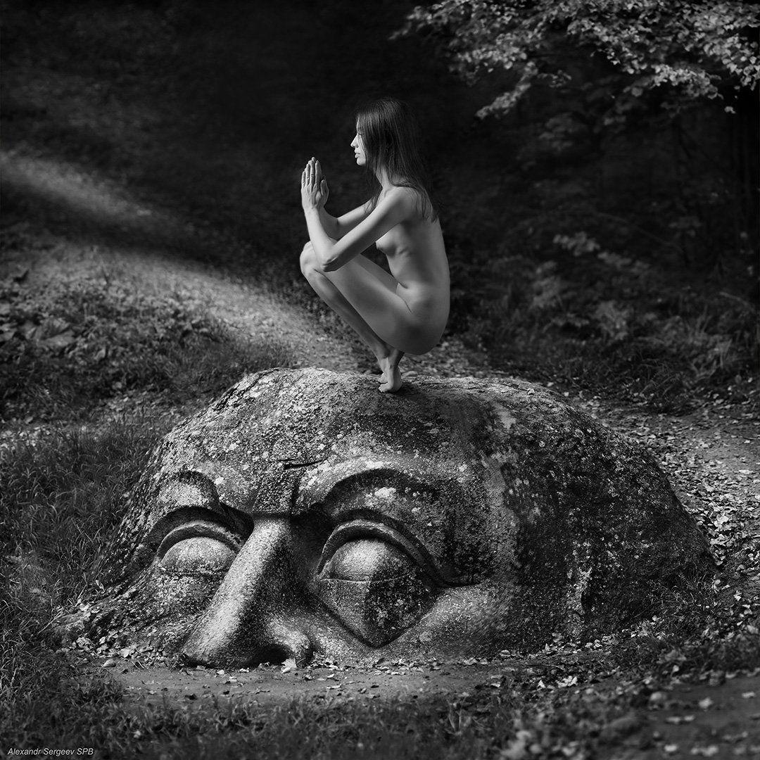 девушка, медитация,обнажение,арт,фото-арт,ню-арт,стилизация,концептуальное,,  Александр