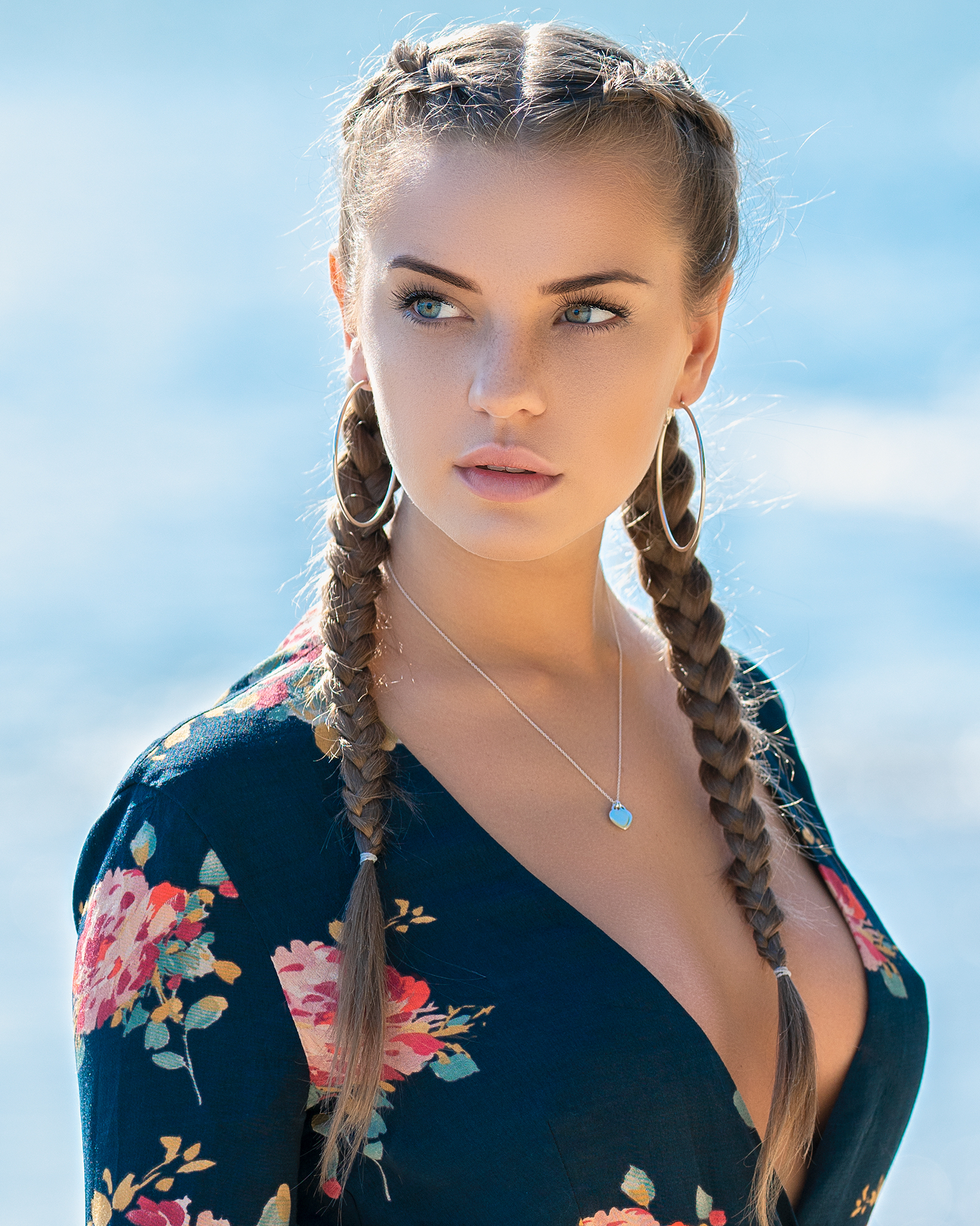 portrait hair girl, Daniel Bidiuk
