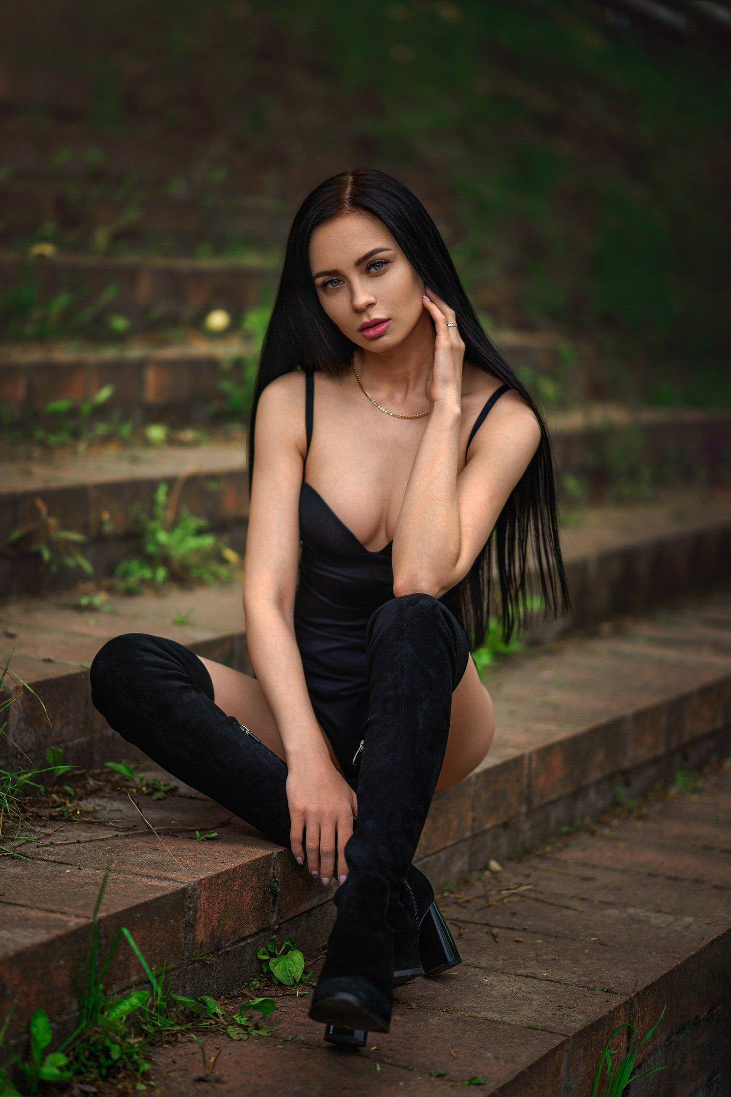 girl sexy nude dmitrymedved black white  lingerie, Медведь Дмитрий