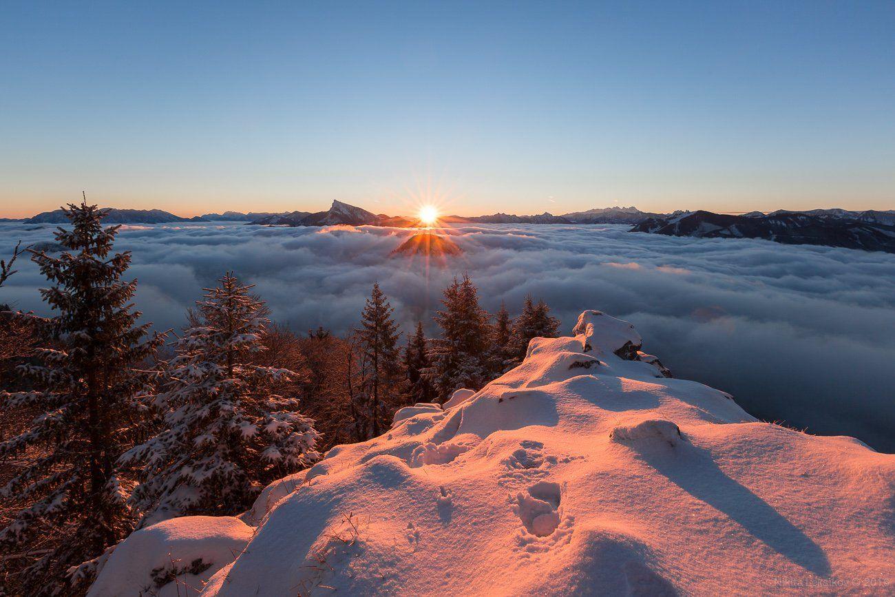 Австрия, горы, Альпы, зима, снег, Nikita Leksikov