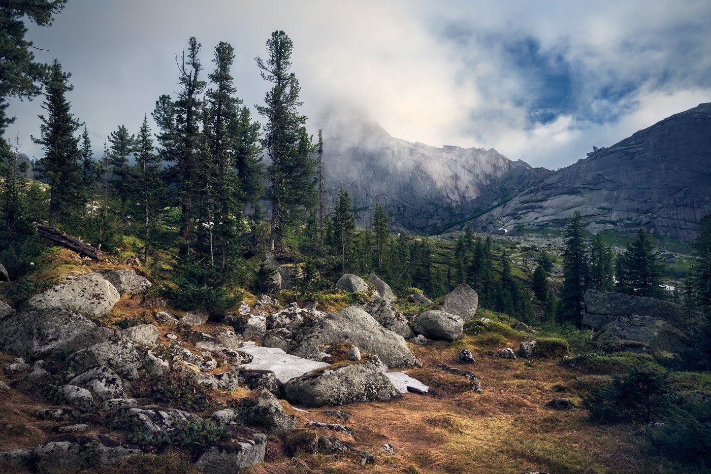 пейзаж, природа, горы, хребет, ергаки, парк, красноярский край, сибирь, перевал, камни, полянка, высокий, большой, красивая, снег, холодный, чистый, Дмитрий Антипов