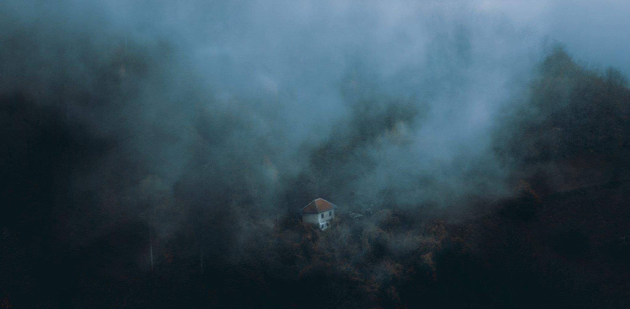 сербия, гора, туман, туман, лес, дом, один, изолированный, природа, забытый, старый, изобилующий,serbia, mountain, fog, misty, forest, house, alone, isolated, nature, forgotten, old, abounded,, Марко Радовановић