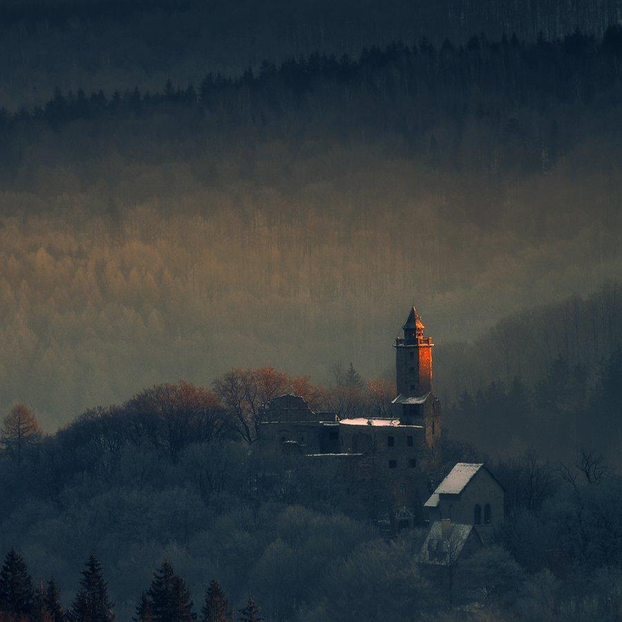landscape,canon,winter,castle,sunrise, Iza i Darek Mitręga