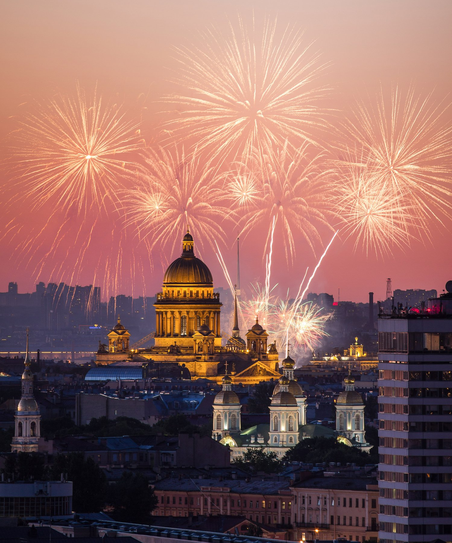 sain-petersburg, russia, fireworks, , Мария Креймер