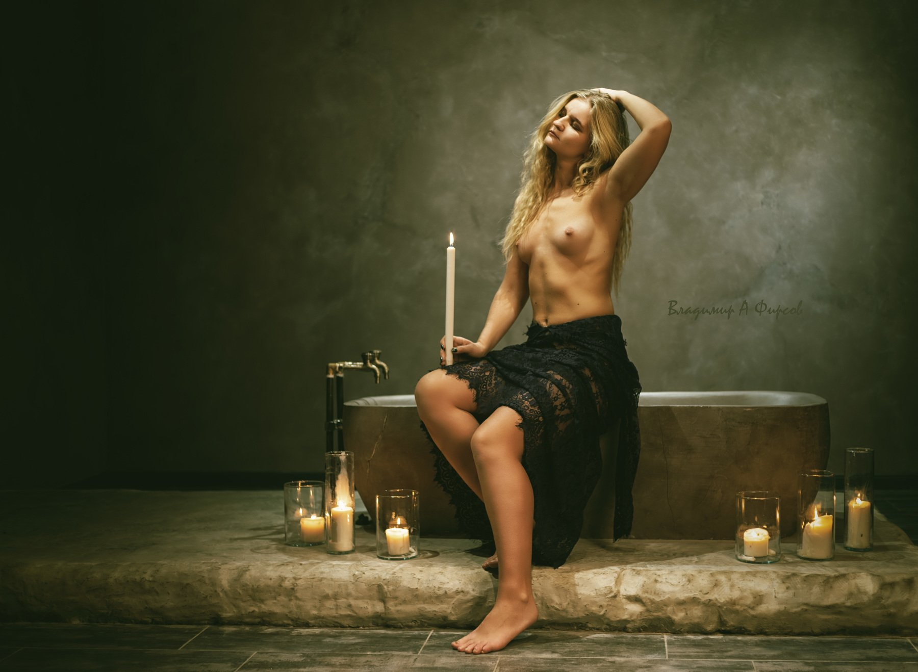 девушка, нюарт, портрет, ванна, студия, Владимир Фирсов