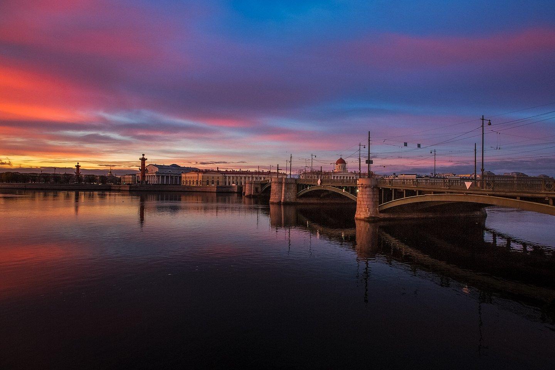 санкт-петербург, нева, исакий, благовещенский мост, Евгеньевич Андрей