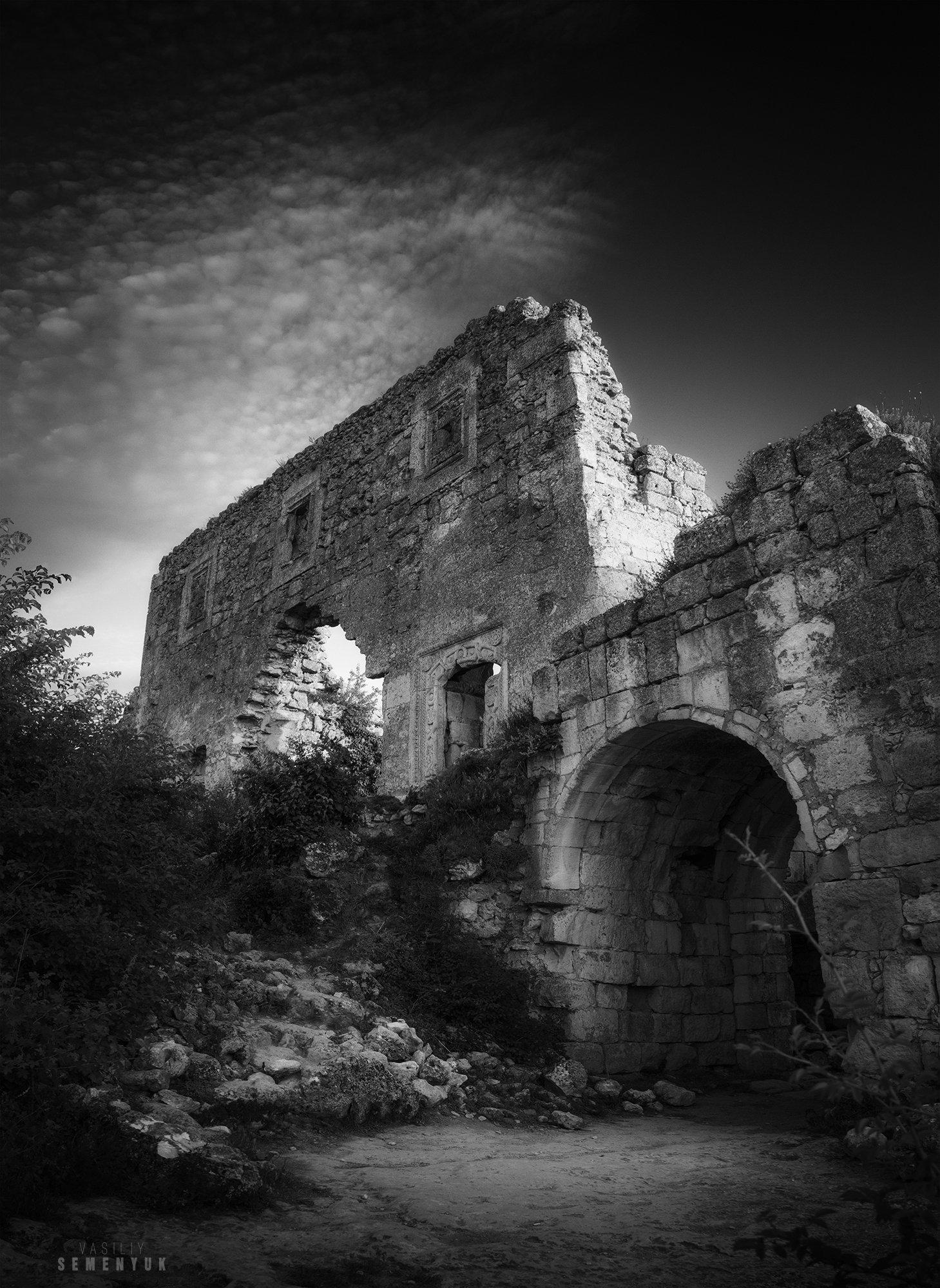 крым, мангуп, лето, закат, цитадель, крепость, средневековье, \, Семенюк Василий