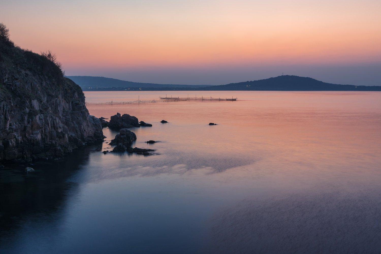 море_черное закат ветер легкий скалы горы вода, Вера Ра