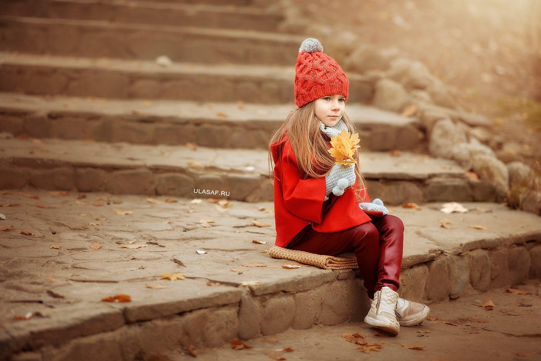 портрет, осень, девочка, girl, солнышко, лучи, happy, happiness, сказка, волшебство, autumn, грусть, Юлия Сафонова