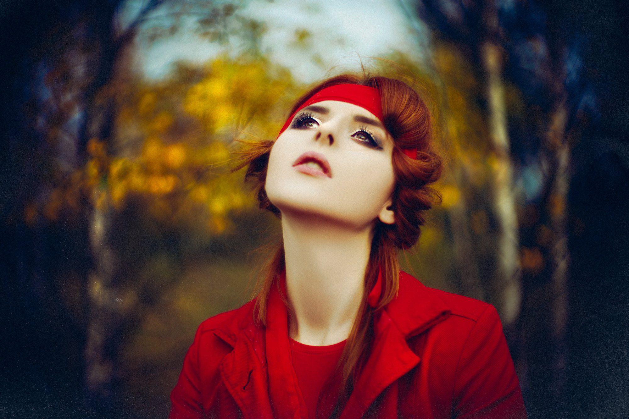 woman, portrait, natural light, art, bokeh, autumn, colors, Руслан Болгов (Axe)