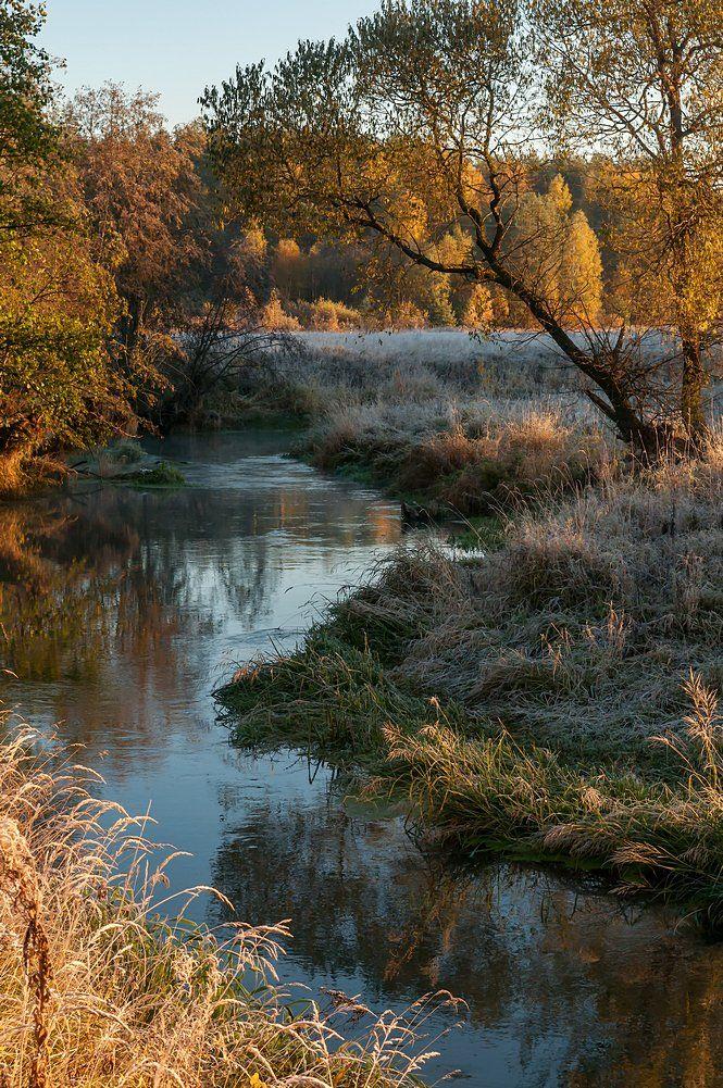утро иней осень река, Yakovlev Artur