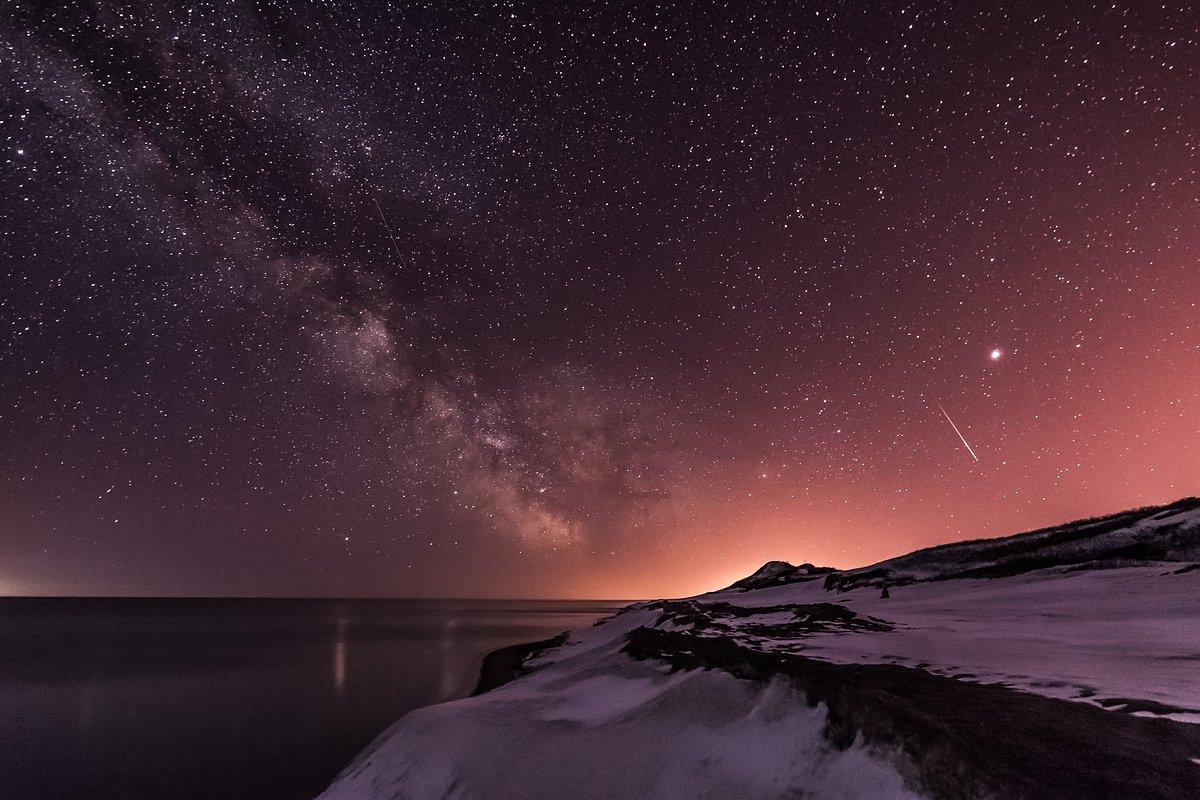сахалин, ночь, зима, млечный путь, Екатерина Васягина
