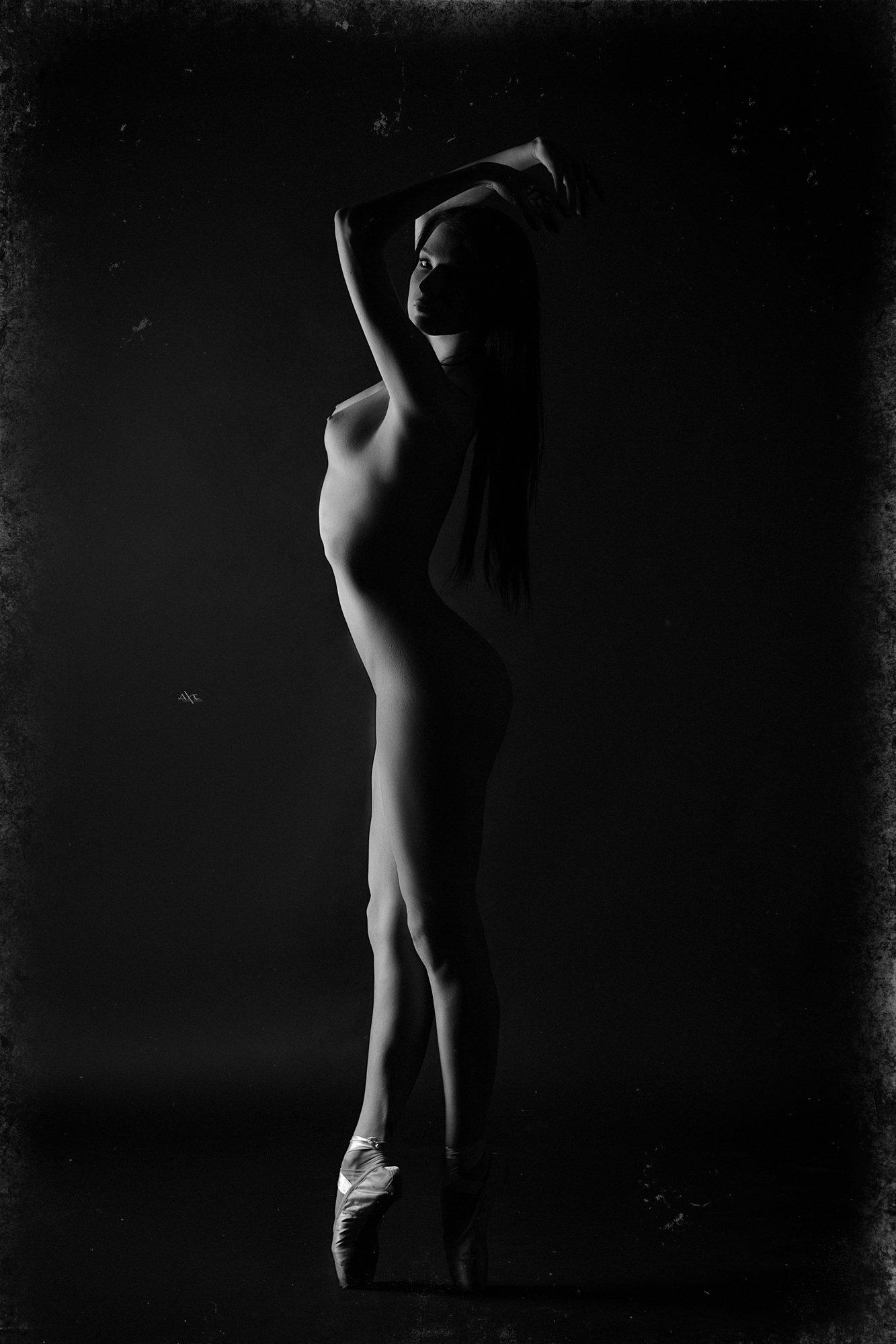 woman, art, portrait, nude, ballerina, studio, blackandwhite, Руслан Болгов (Axe)
