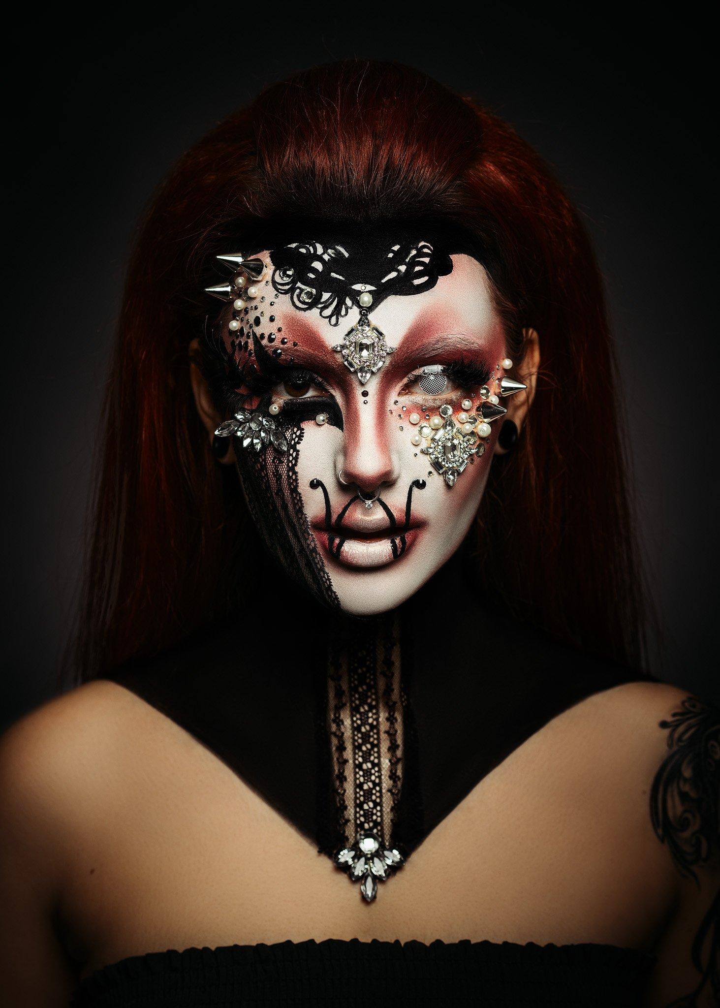 make up, beauty, portrait, dark,, Чавдар Димитров
