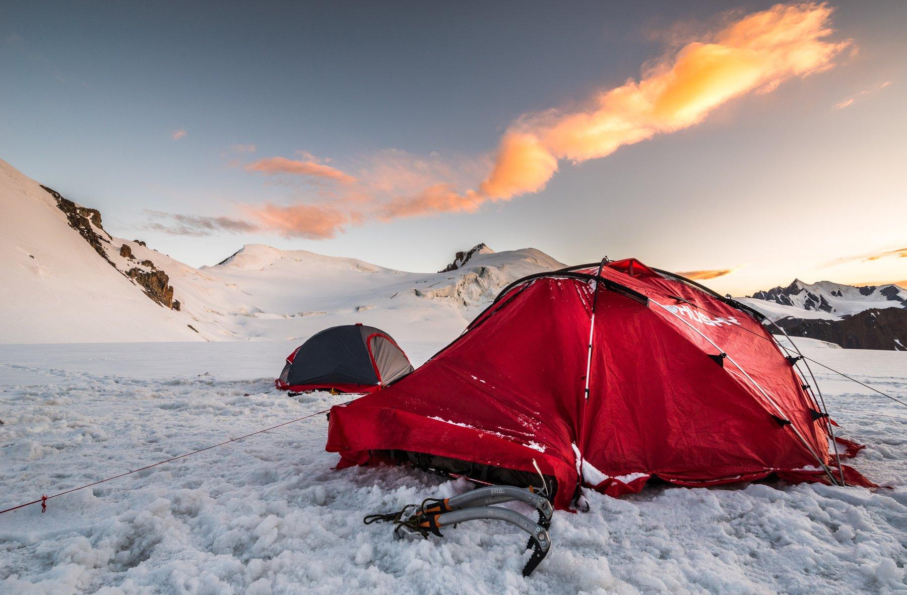 Куйлю, перевал, горы, палатка, ледник, Evgeniy Khilkevitch