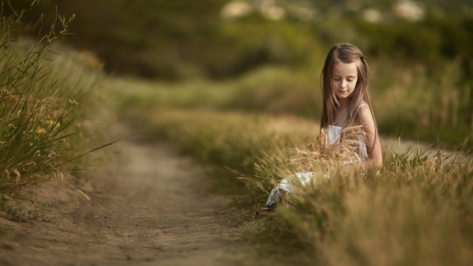 детский фотограф, дети, портрет, художественный портерт, идея детской фотосессии, детский образ, образ, пшеница, платье, ребенок, ребенок в кадре,, Щепин Сергей