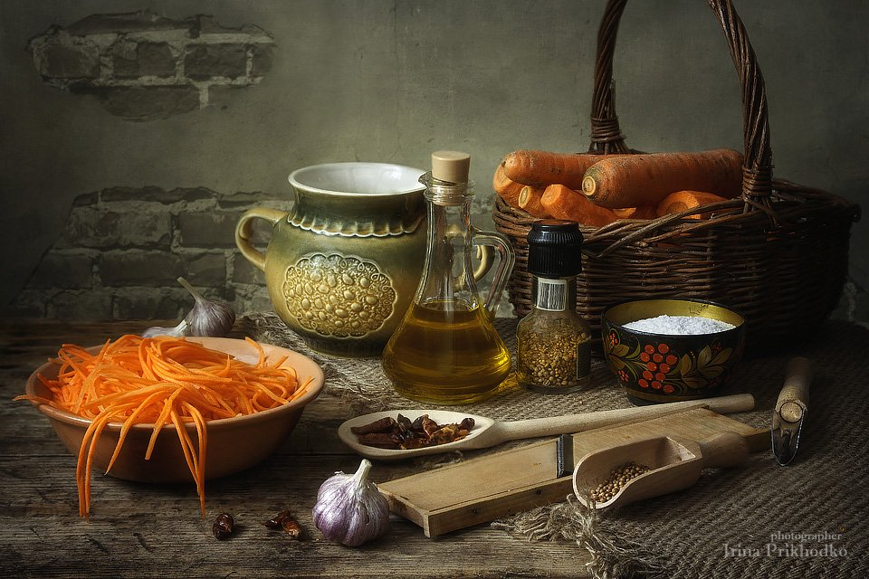 натюрморт, вегетарианство, здоровая пища, осень, морковь. салат, Ирина Приходько