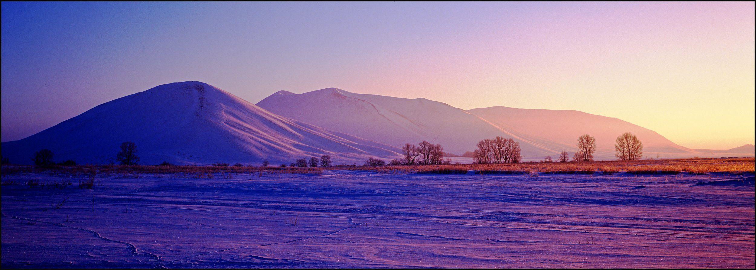 dawn,mountains,landscape,photofilm,mamiya,snow,oleg_grachev, Грачёв Олег