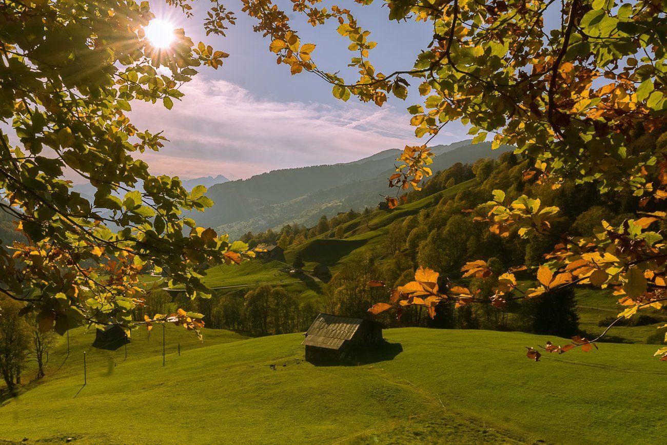 Швейцария, горы, пейзаж, природа, солнце, , Лариса Николаевна Дука