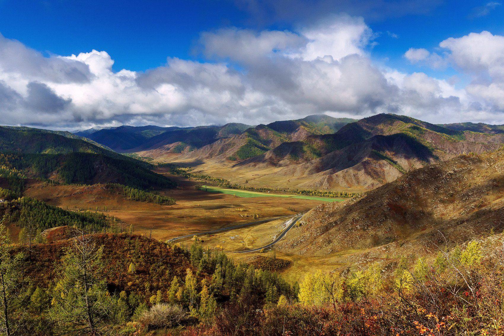 пейзаж, горы, осень, Горный Алтай , Чуйский тракт , Александр Потапов
