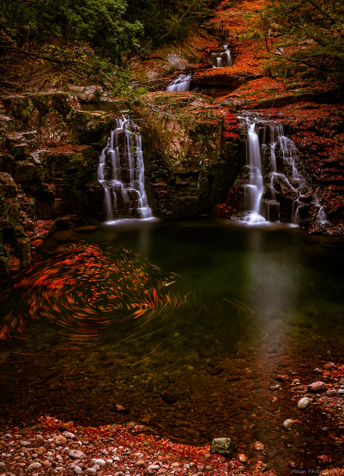 waterfalls nature landscape autumn rocks mountain , Hasan Jakaria