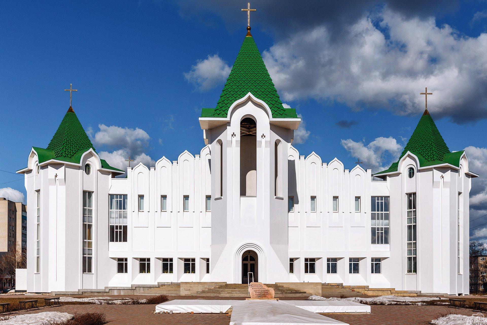 тамбов, церковь, храм, тамбовщина, религия, храм христа спасителя евангельских христиан, Вьюнов Сергей