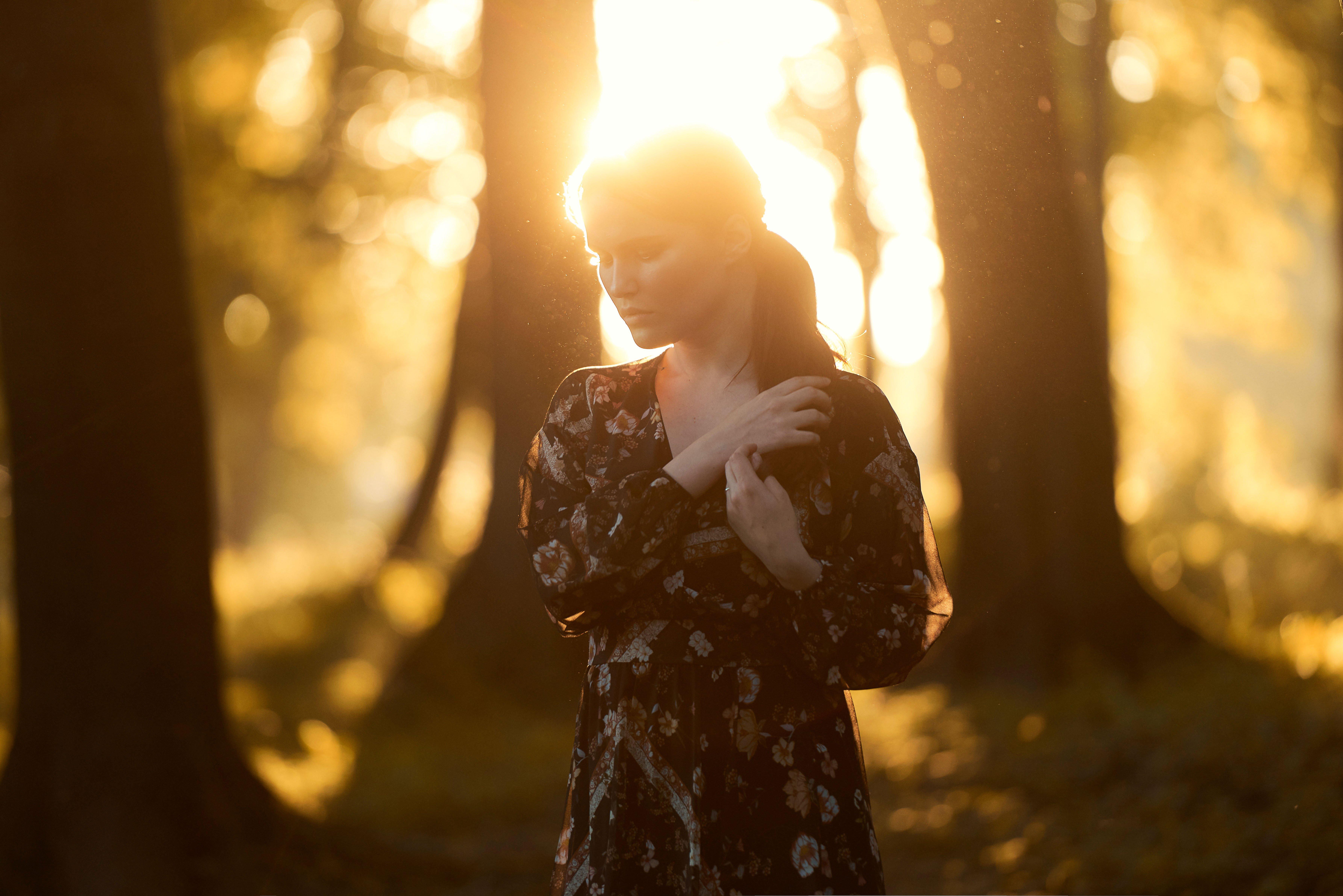 закат, девушка, природа, свет, эмоция, Колесников Владимир