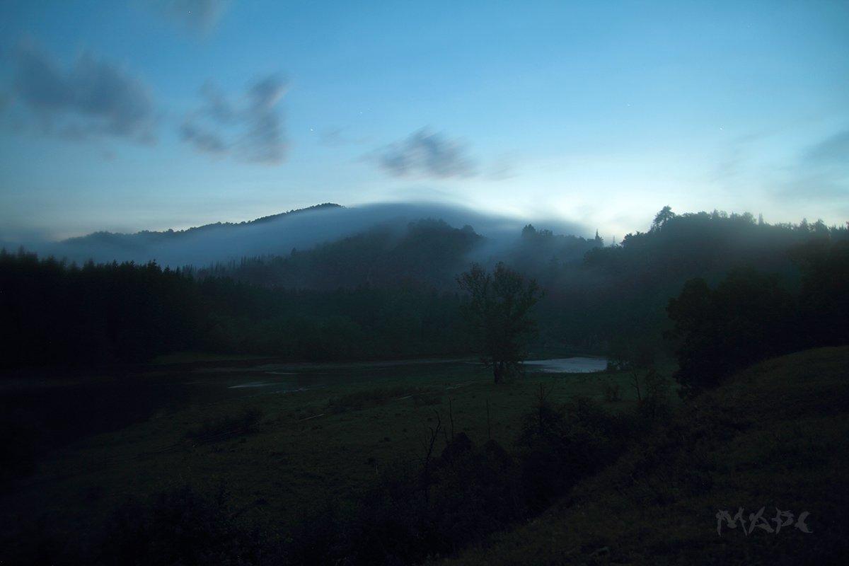 пейзаж, туман, река, горы, река, зилим, башкортостан, Шангареев Марс
