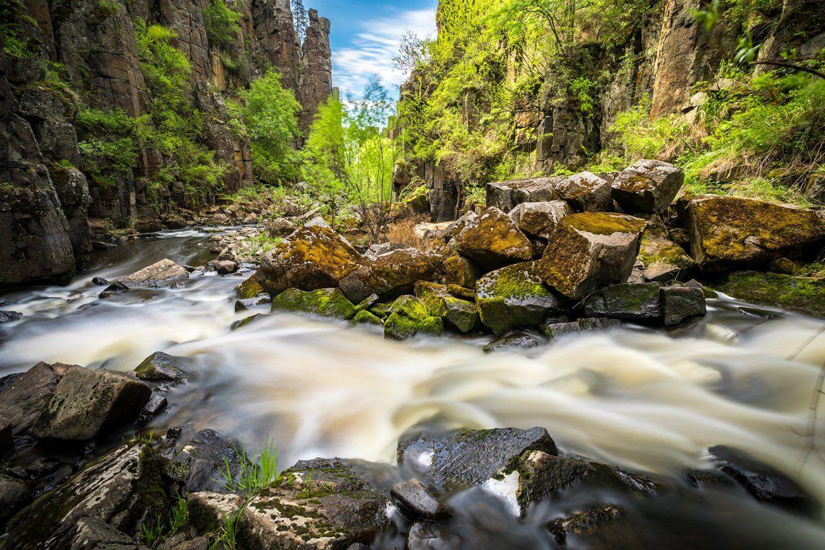нижнеудинск, река, ук, уковский, водопад, ущелье, длинная, выдержка, Вячеслав Мельников
