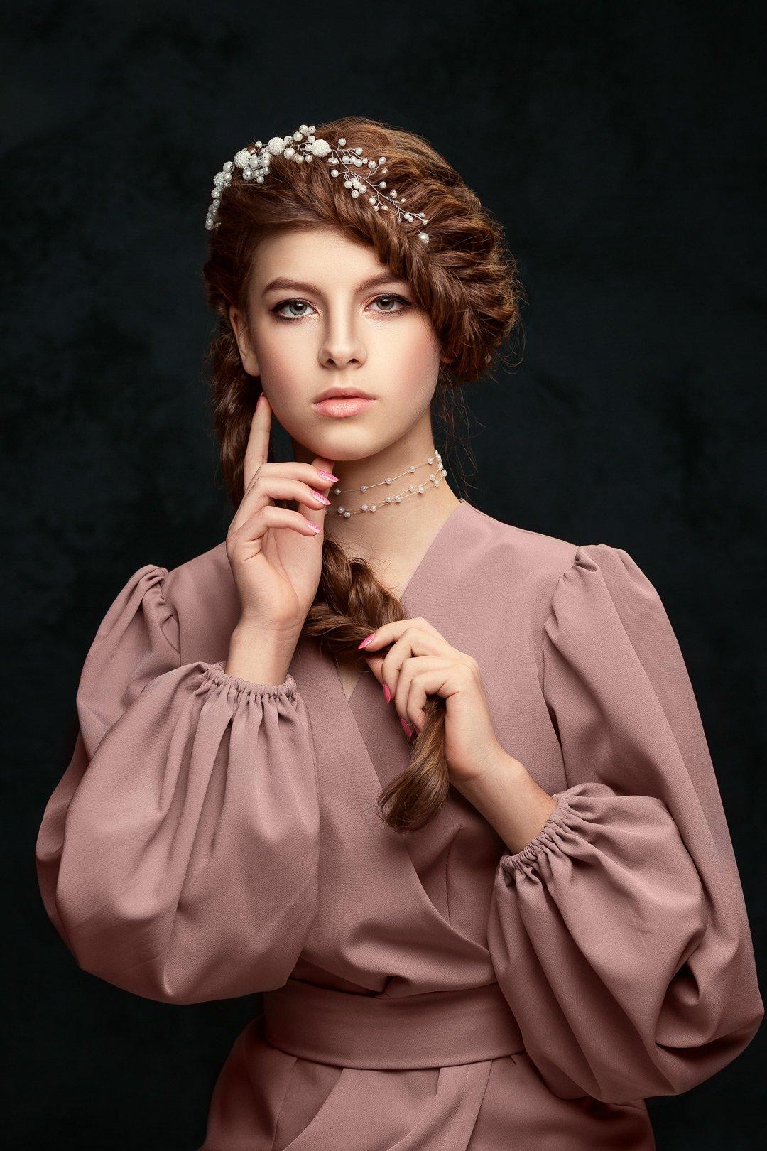 портрет, мода, бьюти, фешн, классический, образ, арт, русская красавица, Марина Кондратова