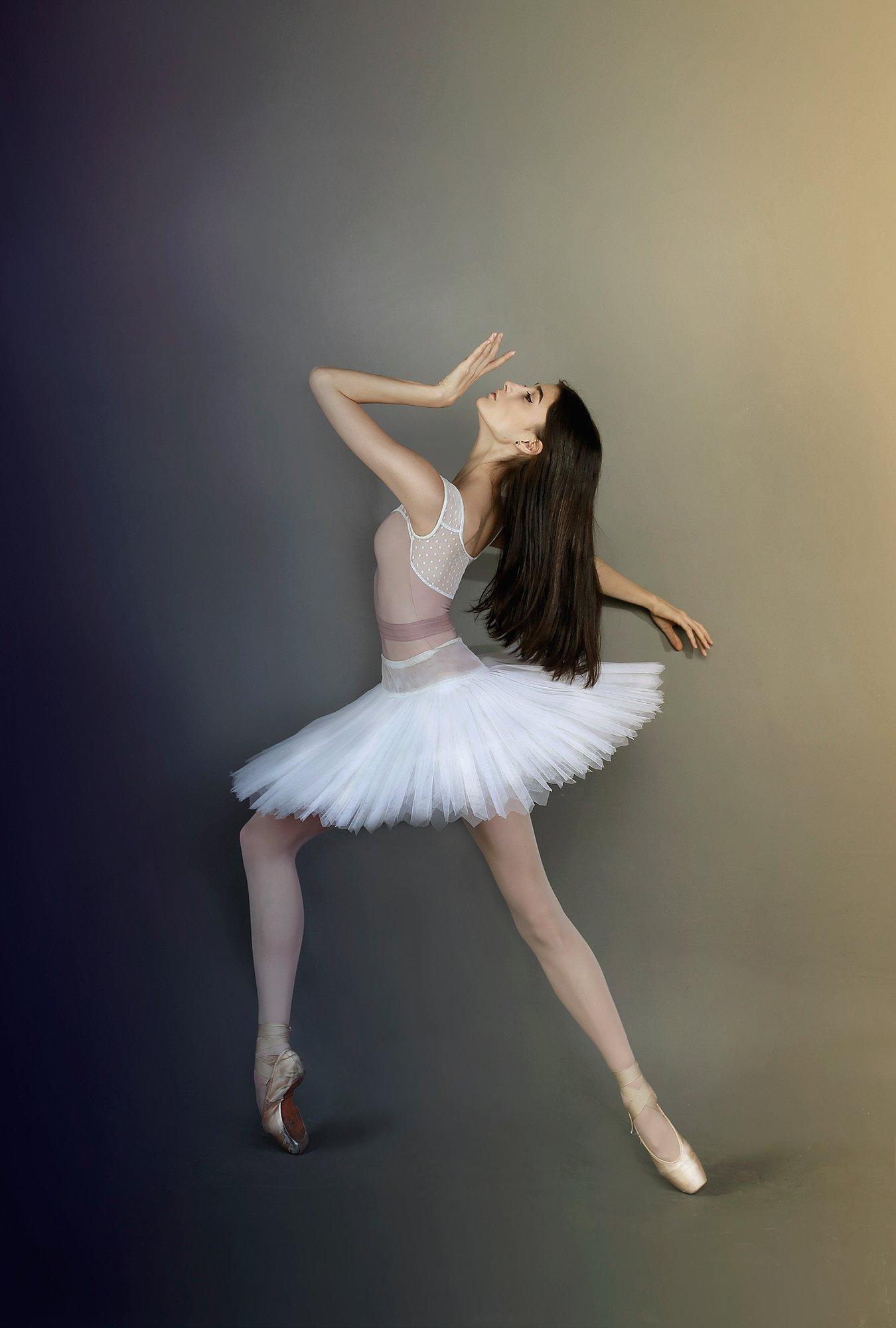 балерина, балет, портрет, красивая, девушка, модель, движение, грация, изящество, нежная, пачка, пуанты, Постонен Екатерина