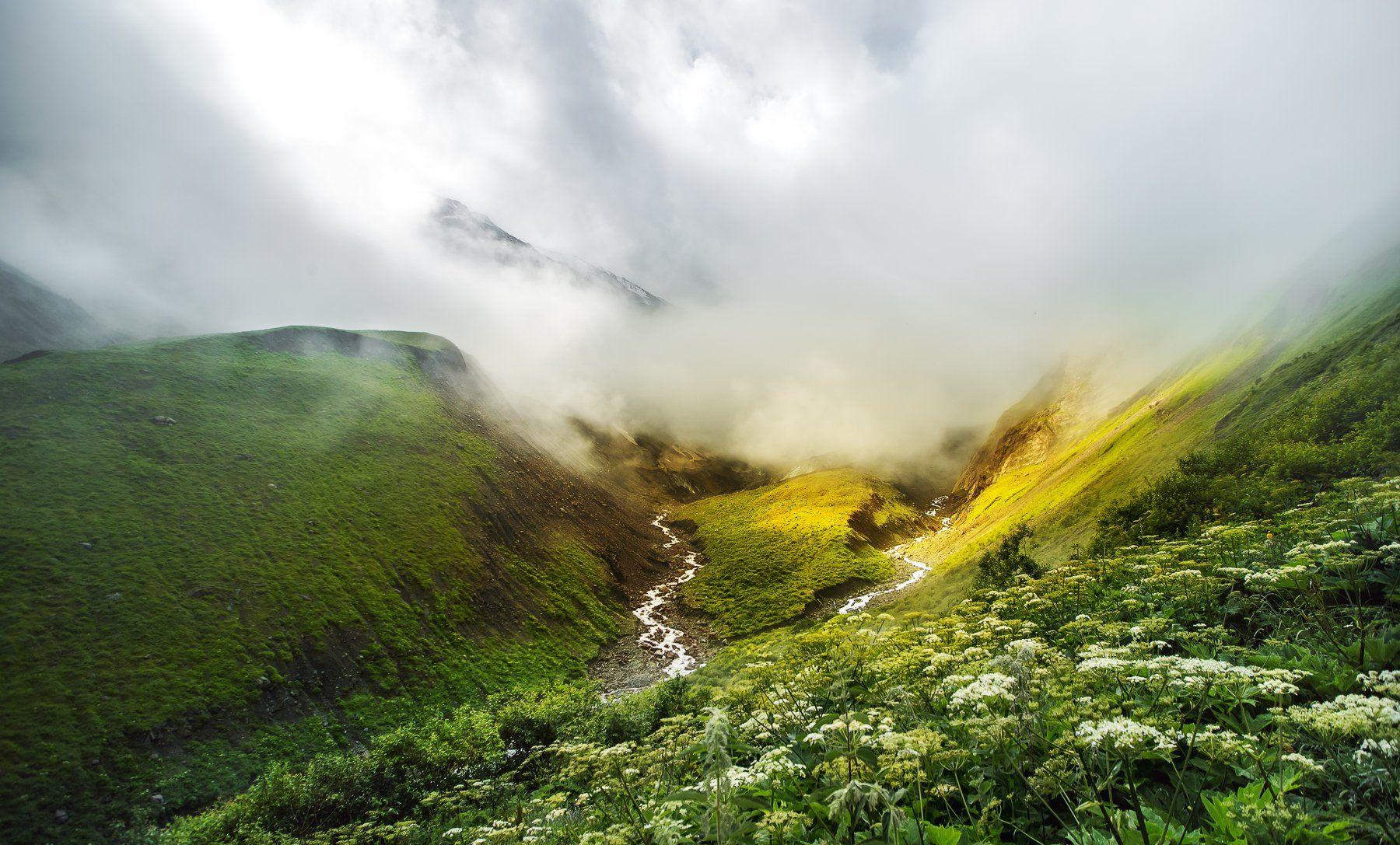 Северная Осетия, Горы, Осетия, Кавказ, река, горная река, пейзаж, облака, VyacheslavLin Vyacheslav