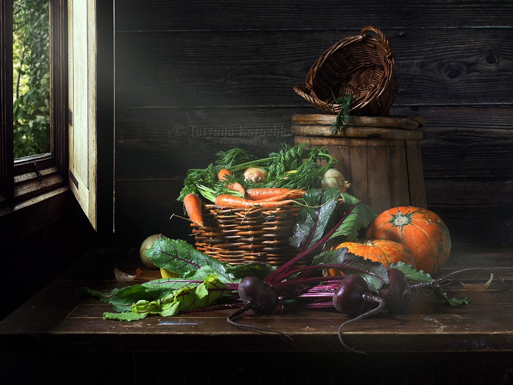 натюрморт, овощи, деревенский, дачный, Karachkova Tatyana