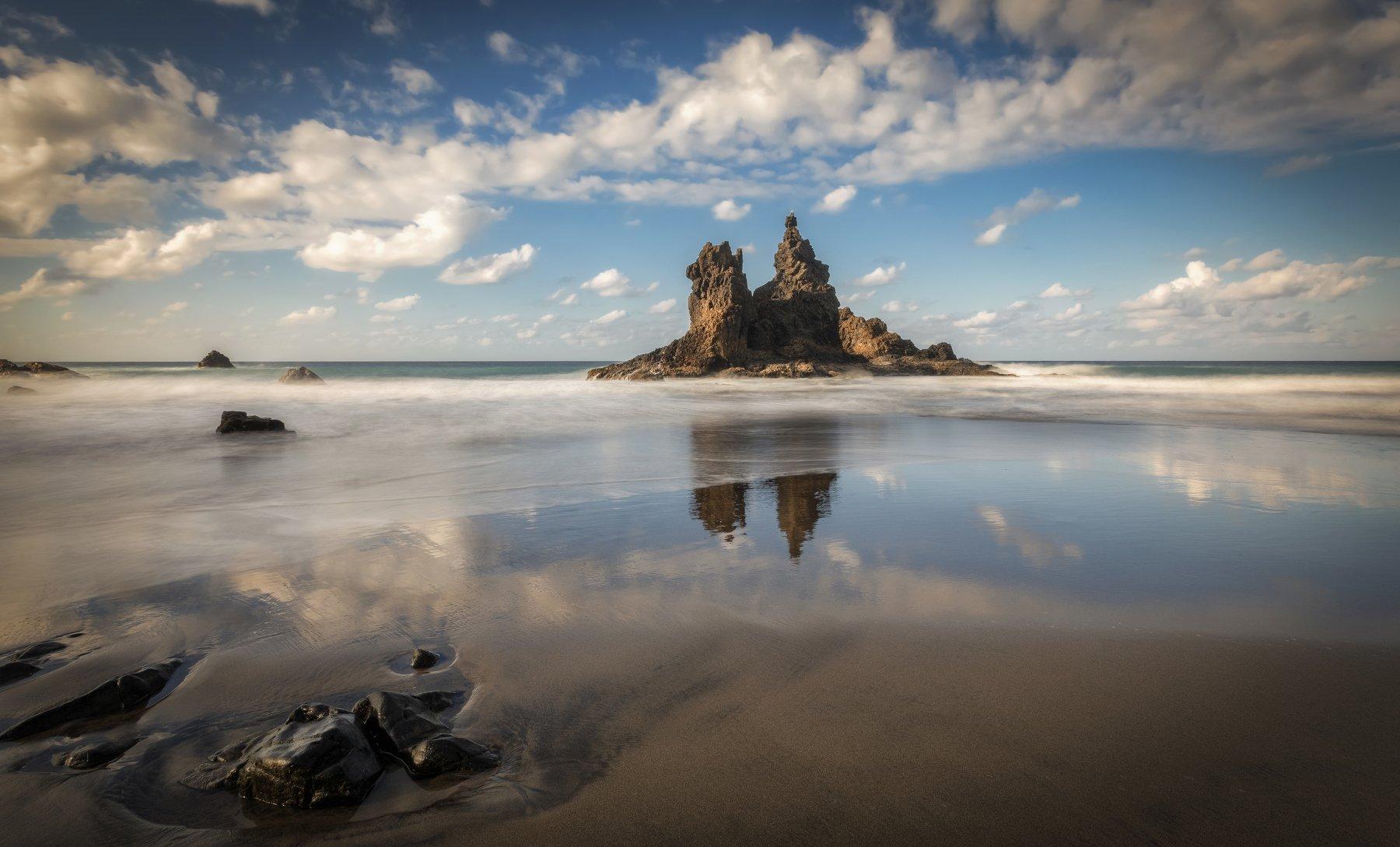 пляж, отлив, океан, скалы, Alexandr Bezmolitvenny