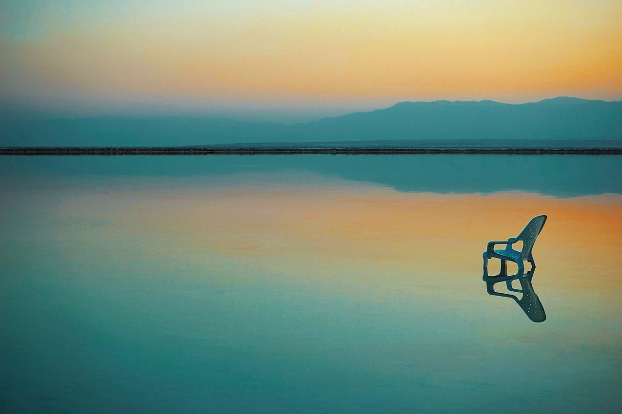 восход,мертвое море,стулья,пляж,берег, David Solodar