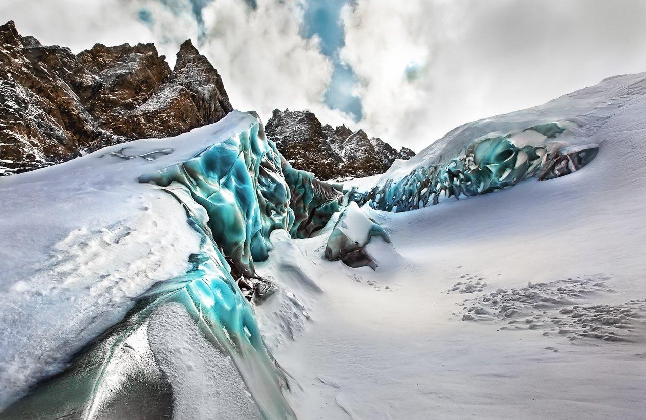Горы, Кавказ, ледник, VyacheslavLin Vyacheslav
