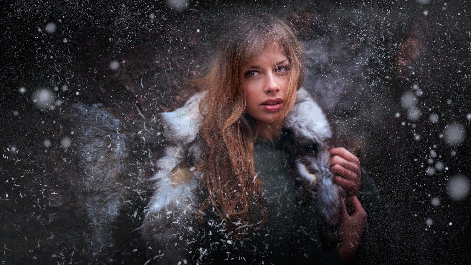 портрет, зима, красота, модель, жанр, rekhov, Рехов Сергей