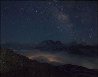 Ночь на высоте 3700 метров.