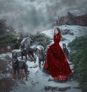 фото Червона Ворона модель Настя пёс- Зевс